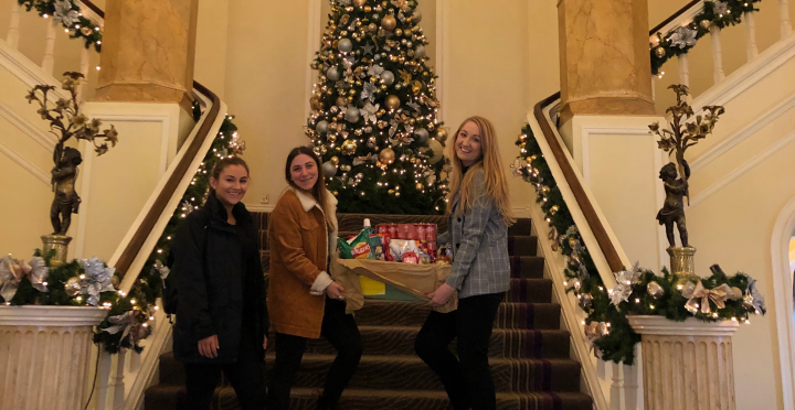 Shannon, Adele and Kim with their Christmas contribution.